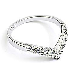 preiswerte Ringe-Damen Bandring - Krystall, Diamantimitate, Aleación Herz, Liebe Geburtssteine 9 / 8½ / 9½ Silber / Golden Für