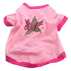 Câine Tricou Îmbrăcăminte Câini Casul/Zilnic Stele Roz Costume Pentru animale de companie