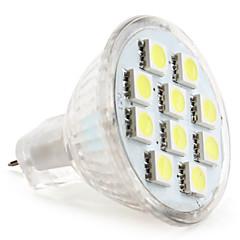 preiswerte LED-Birnen-1W 50-80lm GU4(MR11) LED Spot Lampen MR11 10 LED-Perlen SMD 5050 Natürliches Weiß 12V