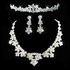Damskie Rhinestone biżuteria kostiumowa Stop Naszyjniki Náušnice Tiary Na Ślub Impreza Urodziny Zaręczynowy Prezenty ślubne