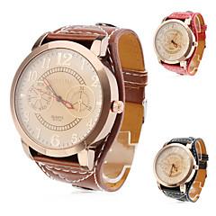 Dames Modieus horloge Kwarts PU Band Zwart Wit Rood Bruin