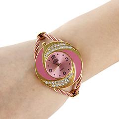 お買い得  レディース腕時計-女性用 ファッションウォッチ ブレスレットウォッチ クォーツ ブラック / 白 / ブルー ハンズ レディース 光沢タイプ バングル - レッド ブルー ピンク 1年間 電池寿命 / SSUO 377