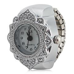 preiswerte Damenuhren-Damen Ringuhr Japanisch Armbanduhren für den Alltag Edelstahl Band Blume / Modisch Silber / Ein Jahr / SSUO SR626SW