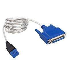 olcso Kábelek & adapterek-USB párhuzamos kábel (kék, fekete 1,5 m)