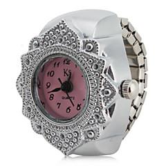 preiswerte Tolle Angebote auf Uhren-Damen Ringuhr Japanisch Armbanduhren für den Alltag Edelstahl Band Blume / Modisch Silber / Ein Jahr / SSUO SR626SW