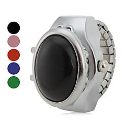 preiswerte Tolle Angebote auf Uhren-Damen Quartz Ringuhr Japanisch Armbanduhren für den Alltag Legierung Band Retro Silber