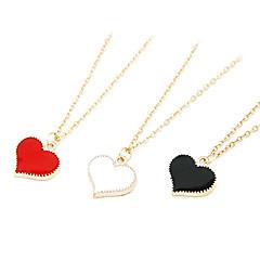 moda słodki złocone brzegi naszyjnik kształcie serca