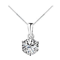 preiswerte Halsketten-Damen Kubikzirkonia Anhängerketten - Zirkon, Kubikzirkonia Modisch Silber Modische Halsketten Für Alltag