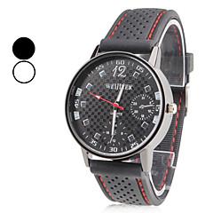 Χαμηλού Κόστους Προσφορές σε ρολόγια-Ανδρικά Ρολόι Καρπού Ιαπωνικά Χαλαζίας Καθημερινό Ρολόι σιλικόνη Μπάντα Φυλαχτό Μαύρο