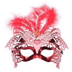 pena máscara Venetian metade superior com amor levou luz intermitente para a festa de máscaras