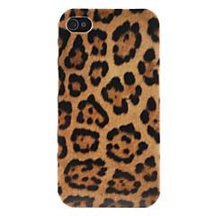 Недорогие Кейсы для iPhone-Жесткий чехол с леопардовым рисунком для iPhone 4 и 4S (разноцветный)