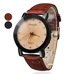 preiswerte Damenuhren-Damen Quartz Armbanduhr Schlussverkauf PU Band Charme Kleideruhr Modisch Schwarz Braun