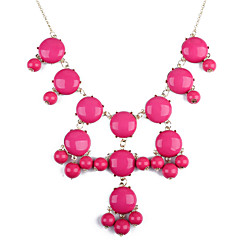 preiswerte Halsketten-Damen Statement Ketten  -  Harz Purpur, Blau, Rosa Modische Halsketten Für Party, Alltag, Normal