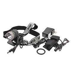 uniquefire HD003 5-mode Cree XM-L t6 doprowadził zasilanie zestaw reflektorów (10W, 1000lm, akumulator + ładowarka)