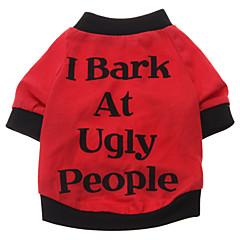 お買い得  犬用ウェア&アクセサリー-犬 Tシャツ 犬用ウェア 文字&番号 コットン コスチューム ペット用 男性用 女性用 キュート