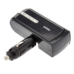 Triple Car Cigarette Sockets Short Power Adapter with USB Power Port