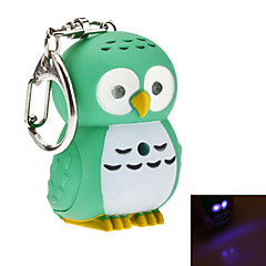 Keychain Jewelry Silicon Rubber Resin Owl LED Animal Lovely Daily Wear Women's Men's