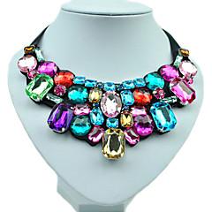 Női Nyilatkozat nyakláncok Gyanta Strassz Hamis gyémánt Ötvözet Kézzel készített jelmez ékszerek Divat Színes Ékszerek Kompatibilitás