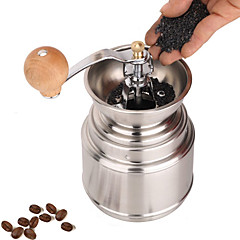 Acero inoxidable Muller Manual Grinder Coffee Mill, W16.5cm x L9.5cm x H9cm