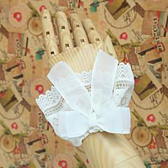 Akcesoria Lolita Lolita Klasyczna i Tradycyjna Lolita Księżniczka White Lolita akcesoria Rękaw Kokarda Koronkowe Jendolity kolor Dla