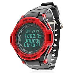 Heren Polshorloge Digitaal horloge Digitaal LCD Kalender Chronograaf alarm Rubber Band Zwart Zwart/Rood