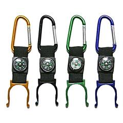 alumnium ötvözet kültéri hordozható palackot megfogó iránytű / karabinerrel (random szín)
