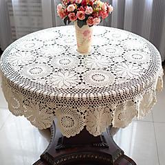 abordables Vajillas-100% algodón Redondo Forros de Mesa Floral Decoraciones de mesa