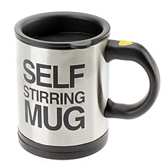 Automata kávé keverő csésze / bögre drinkware rozsdamentes kávécsésze önkeverő elektromos bögre gomb