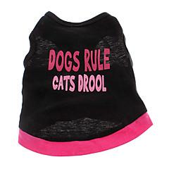 お買い得  犬用ウェア&アクセサリー-犬 Tシャツ 犬用ウェア ハート 文字&番号 コットン コスチューム ペット用