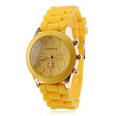 お買い得  大特価腕時計-女性用 クォーツ カジュアルウォッチ シリコーン バンド キャンディ ブラック 白 ブルー レッド ブラウン ピンク パープル 黄色 カーキ