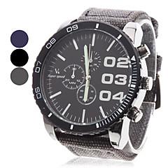 V6 Heren Militair horloge Polshorloge Kwarts Japanse quartz Stof Band Zwart Blauw Grijs