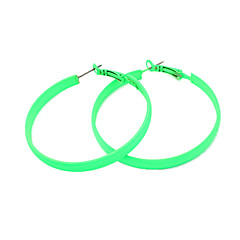 olcso Karika fülbevalók-Francia kapcsos fülbevalók Európai Ötvözet Circle Shape Narancssárga Sárga Rózsa Zöld Kék Ékszerek Mert Parti Napi