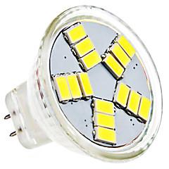 olcso LED izzók-1,5 W 6000 lm GU4(MR11) LED szpotlámpák MR11 15 led SMD 5630 Természetes fehér AC 12V