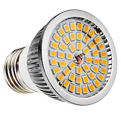 halpa LED-lamput-6W 500-600 lm E26/E27 B22 LED-kohdevalaisimet MR16 48 ledit SMD 2835 Lämmin valkoinen Kylmä valkoinen AC 100-240V