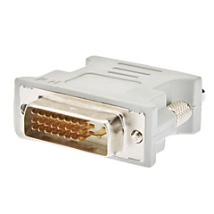 Недорогие DVI-Адаптер DVI 24+1 Male - VGA Female, белый корпус