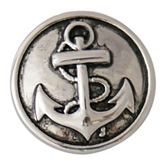 Vintage Alloy Anchor Pattern DIY Button Bead