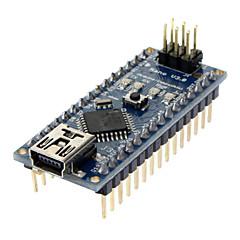 お買い得  マザーボード-Arduino用 Nano V3.0 AVR ATmega328 P-20AU モジュールボード(USBケーブル付き、ブラック)