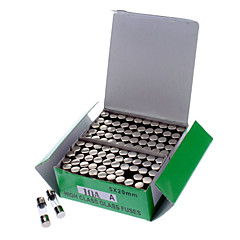 10A Glazen buis Zekering Set (100-delig Pack / 5 x 20mm)