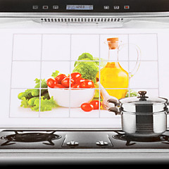 75x45cm λαχανικά μοτίβο πετρελαίου-απόδειξη αδιάβροχο αυτοκόλλητο τοίχο της κουζίνας