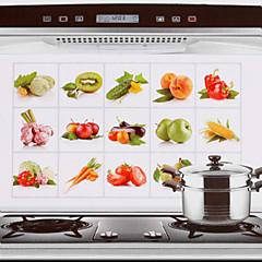 75x45cm φρούτα& λαχανικά μοτίβο πετρελαίου-απόδειξη νερού-απόδειξη ζεστό-απόδειξη αυτοκόλλητο τοίχο της κουζίνας