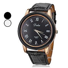 preiswerte Herrenuhren-Herrn Quartz Kleideruhr Japanisch Armbanduhren für den Alltag PU Band Charme Schwarz