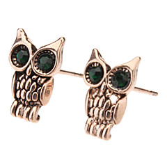 cheap Earrings-Women's Gold Stud Earrings - Owl Animal For Daily