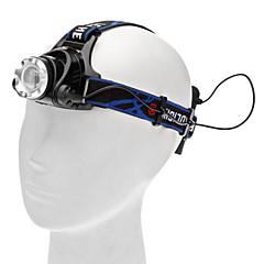 tanie Czołówki-Czołówki Reflektor LED 450 lm 3 Tryb Cree XM-L T6 Obóz/wycieczka/alpinizm jaskiniowy Do użytku codziennego Kolarstwo Polowanie