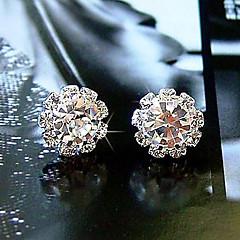cheap Earrings-Women's Sunflower Crystal Zircon Cubic Zirconia Imitation Diamond Stud Earrings - Basic Fashion Simple Style White Sunflower Flower