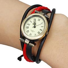 Damskie Modny Zegarek na bransoletce Japoński Kwarcowy Skóra naturalna Pasmo Artystyczny Czarny Biały Czerwony Brązowy Khaki