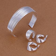 tanie Zestawy biżuterii-Zestawy biżuterii Piercing ucha Bransoletki i łańcuszki na rękę minimalistyczny styl Ślub Impreza Urodziny Zaręczynowy Codzienny Casual