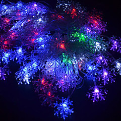 halpa RGB-valonauhat-20-led 4m vedenpitävä eu pistoke ulkona loma koristeluun kukka rgb valo johti merkkijono valo (220v)