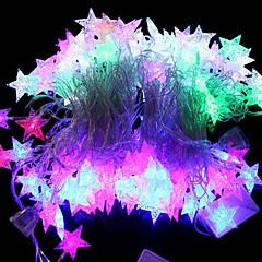 halpa RGB-valonauhat-20-led 4m vedenpitävä eu pistoke ulkona loma koristelu meren tähti muoto rgb valo johti merkkijono valo (220v)
