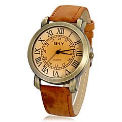 Dames Modieus horloge Kwarts PU Band Vintage Zwart Wit Bruin Kaki roze Wit Zwart Roos Bruin Khaki