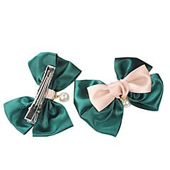 (1 PC) verde dulce de la perla corbata de pelo para los Niños (Verde)